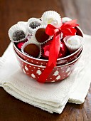 Champagne truffles and chocolate truffles