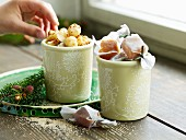 Sweet and spicy crispy nuts and gingerbread toffees