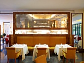 Interior of Michael Hoffmann's Restaurant Margaux in Berlin, Germany
