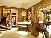 Sales women at counter of Guerlain luxurious perfume, Paris, France