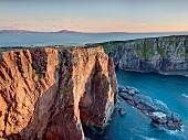 View of Tory Island rocky coast Atlantic, Ireland