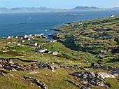 View of rocky sea coast in Inishturk, Ireland