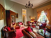 Interior of living room of Dunbrody house in Arthur Town, Ireland