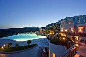 View of pool in Kempinski Hotel Barbaros Bay, Turkey
