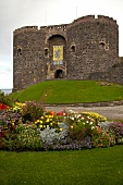 Facade of Carrickfergus Castle, Carrickfergus, Ireland