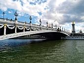 Pont Alexandre III over Seine river in Paris, France