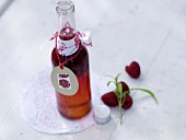 Raspberry vinegar with tarragon