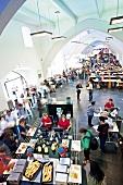 Students at canteen of Ruprecht-Karls-University in Heidelberg, Germany