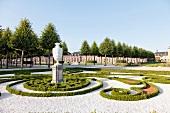 Schwetzingen Castle Garden with avenues in geometric shapes, Germany