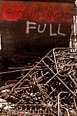 Steel rods at construction site of Ground Zero, New York, USA