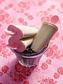 White espresso ice cream sticks