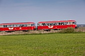 People travelling in Moor Express, Worpswede, Lower Saxony, Germany