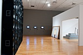 Exhibition of contemporary art at Bronx Museum, New York, USA