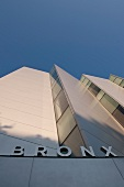 Low angle view of Bronx Museum, New York, USA