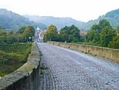 View of Luitpold Bridge in Oberhausen, North Rhine-Westphalia, Germany