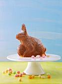 And Easter Bunny cake on a cake stand