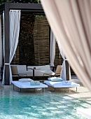 Pool area at Hotel Muse in Saint-Tropez, France