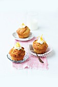 Courgette cupcakes with marzipan