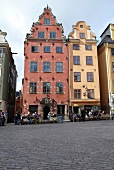 Town houses on Stortorget the Great Place, Stockholm