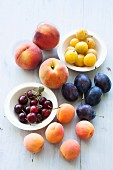 Various type of stone fruits