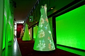 Green light in textile and industry museum at Augsburg, Bavaria, Germany