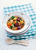 Cabbage soup with chorizo