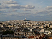 View of cityscape from the Pantheon dome in Paris, France