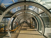 View of pedestrian tube at Centre Georges Pompidou, France