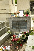 Grave of James Douglas and Jim Morrison at Pere Lachaise Cemetery, Paris, France