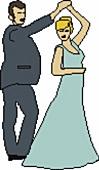 Illustration Paar in Abendkleidung, tanzen