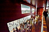 People standing in Foyer of Culture and Convention Centre, Lucerne, Switzerland