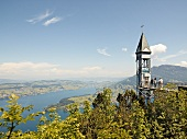 View of tourist at Hammetschwand Elevator at Lucerne, Switzerland