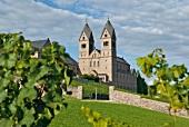 View of Abbey St. Hildegard, Rheingau, Rudesheim am Rhein, Germany