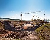 Construction of A 44 road, Lichtenau, Hesse, Germany
