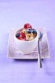 Multi-grain porridge with berries