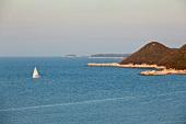 View of sea and Adriatic island in Croatia