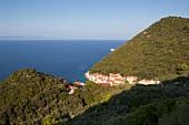 View of sea and Lastovo island in Croatia