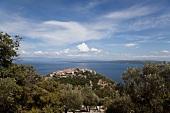 View of beli village and sea in Cres, Croatia
