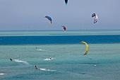 Kites flying over Red sea El Gouna, Egypt