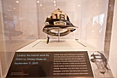 Ground Zero Helmet in exhibition, New York, USA