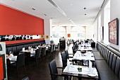 Tables laid in Restaurant Romer, Heidelberg, Baden-Wurttemberg, Germany