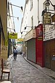 Man walking on Passage of Chantier alley, Paris