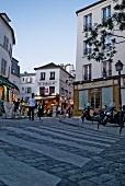 View of Montmartre Restaurant, Le Consulat and Boulangerie in Paris