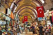 People at Grand Bazaar in Eminonu, Beyazit, Istanbul