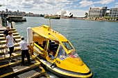 View of Sydney water taxi, New South Wales, Australia