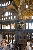Interior of Hagia Sophia in Ayasofya, Istanbul, Turkey