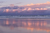 View of sunset with sky and clouds, Fraser Island, Queensland, Australia