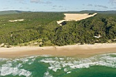 View of Fraser Island in Queensland, Australia, Aerial view