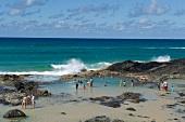 People enjoying in Fraser Island in Queensland, Australia