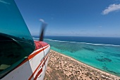 View of coral bay in Ningaloo Reef, Australia, Aerial view